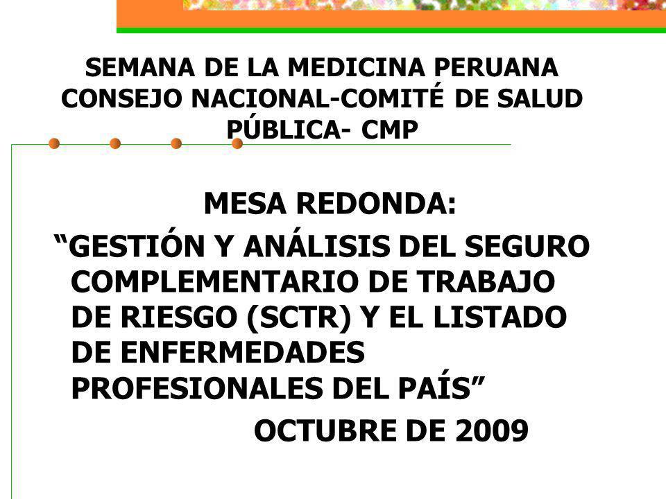 SEMANA DE LA MEDICINA PERUANA CONSEJO NACIONAL-COMITÉ DE SALUD PÚBLICA- CMP