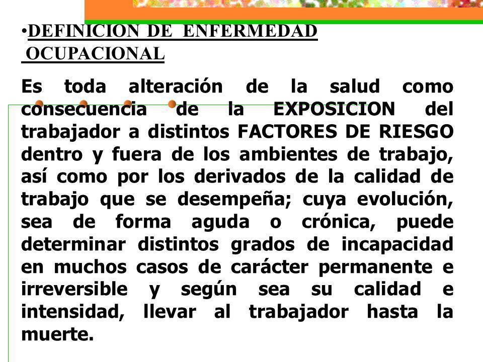 DEFINICION DE ENFERMEDAD