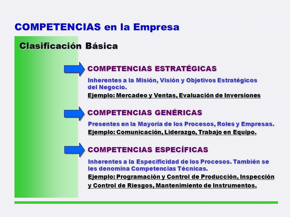 COMPETENCIAS en la Empresa