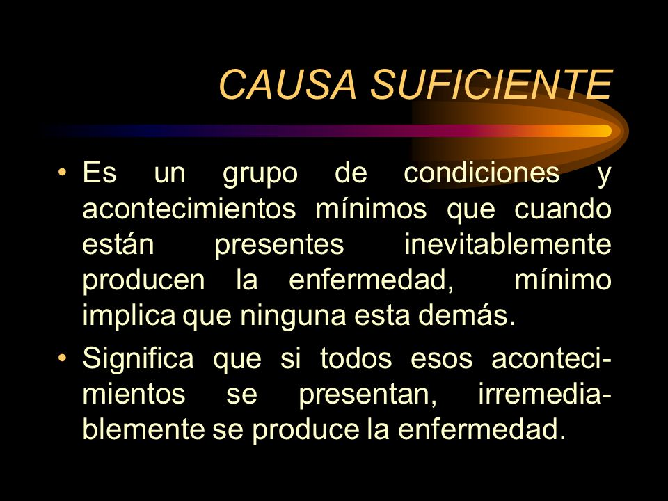 CAUSA SUFICIENTE