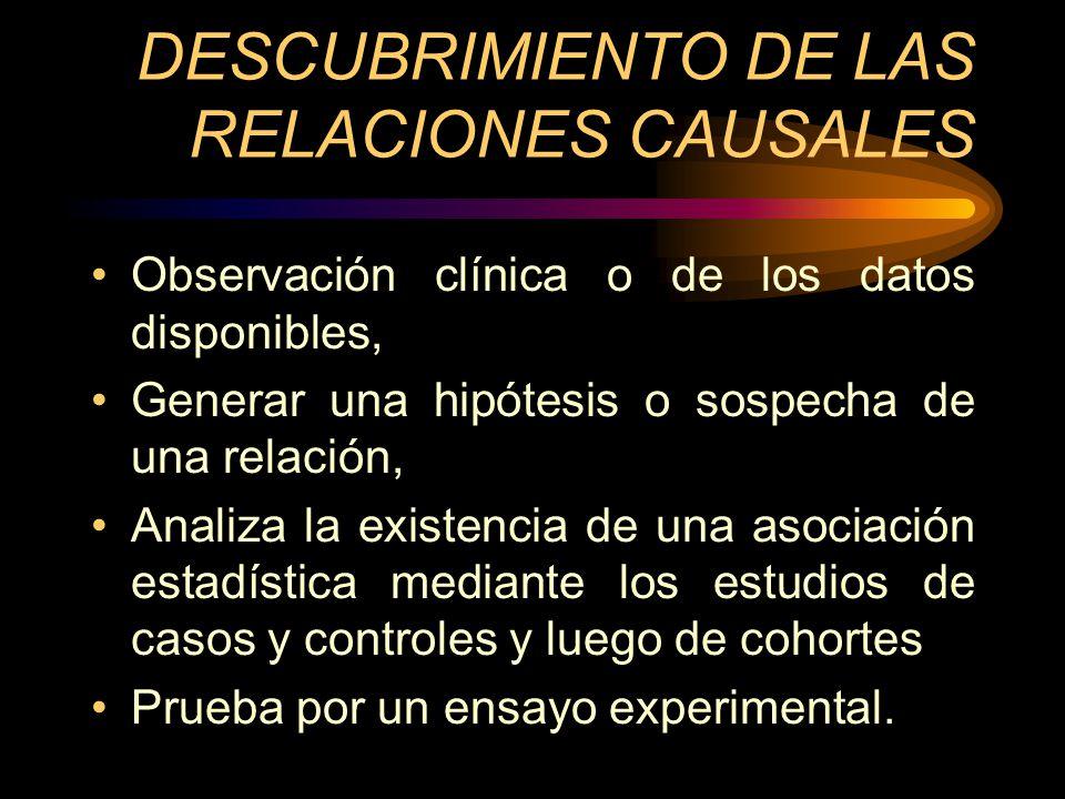 DESCUBRIMIENTO DE LAS RELACIONES CAUSALES