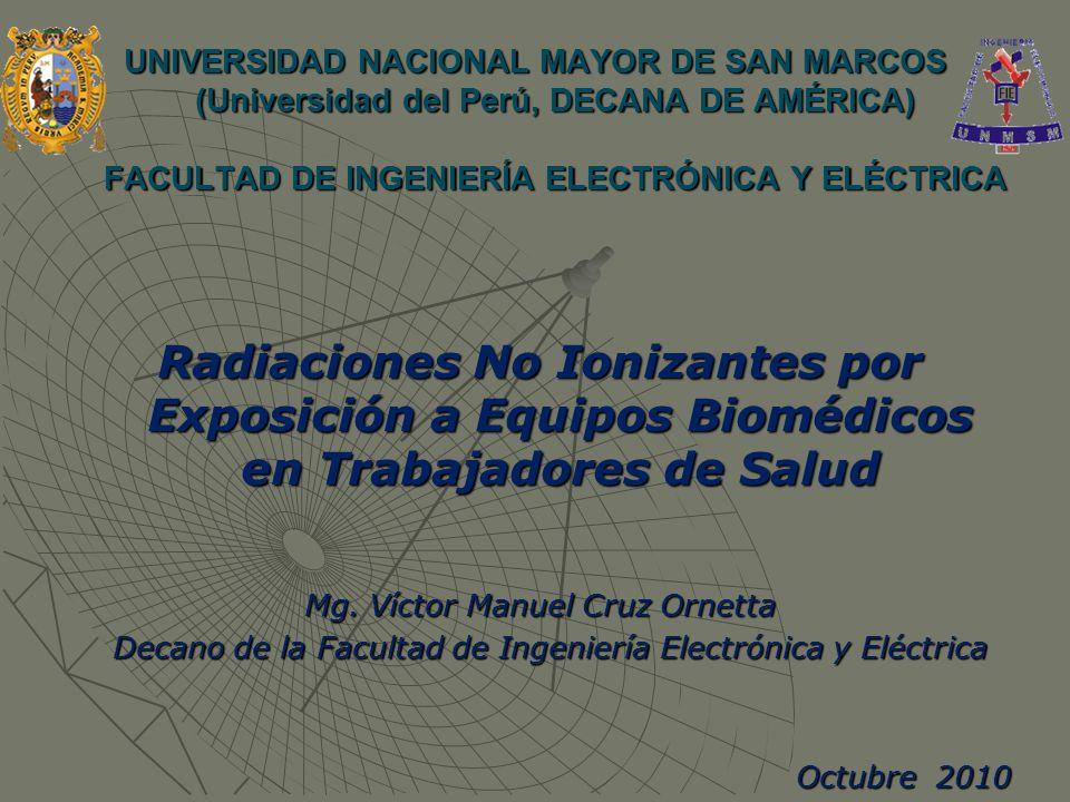 UNIVERSIDAD NACIONAL MAYOR DE SAN MARCOS (Universidad del Perú, DECANA DE AMÉRICA) FACULTAD DE INGENIERÍA ELECTRÓNICA Y ELÉCTRICA