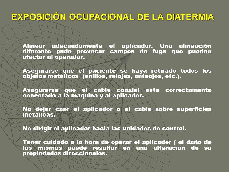 EXPOSICIÓN OCUPACIONAL DE LA DIATERMIA