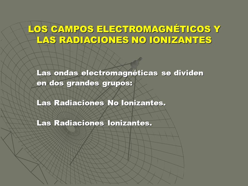 LOS CAMPOS ELECTROMAGNÉTICOS Y LAS RADIACIONES NO IONIZANTES