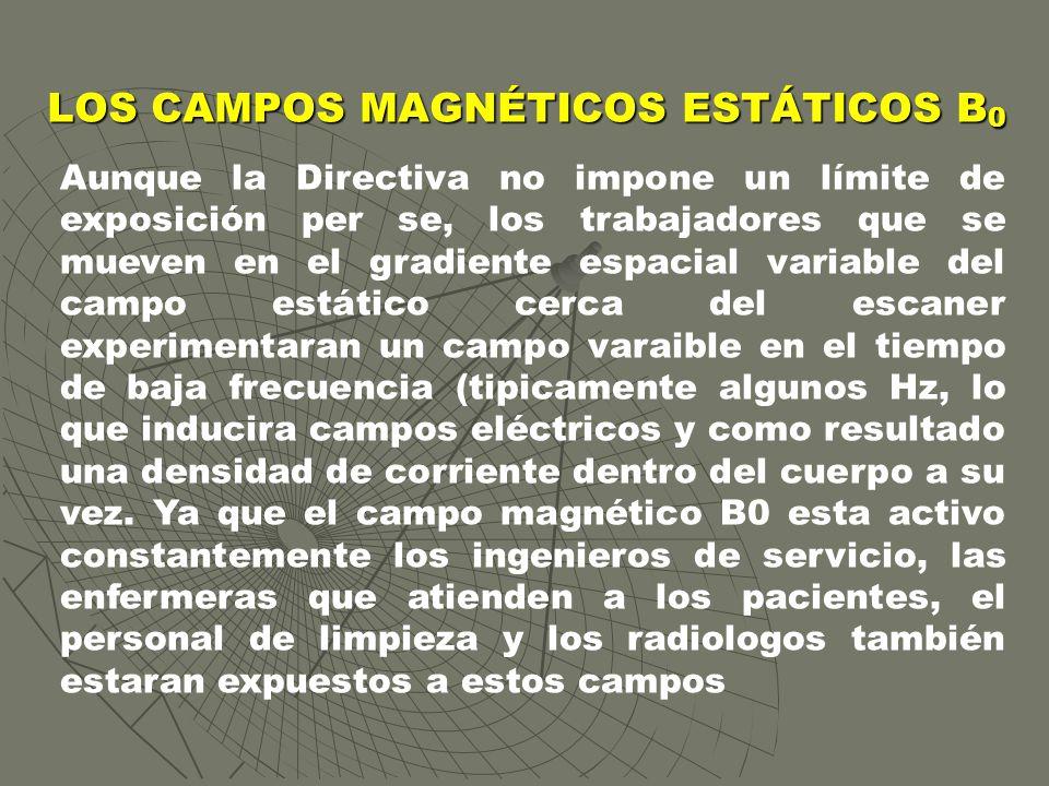 LOS CAMPOS MAGNÉTICOS ESTÁTICOS B0