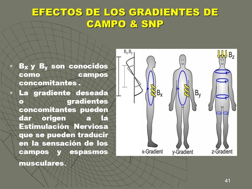 EFECTOS DE LOS GRADIENTES DE CAMPO & SNP