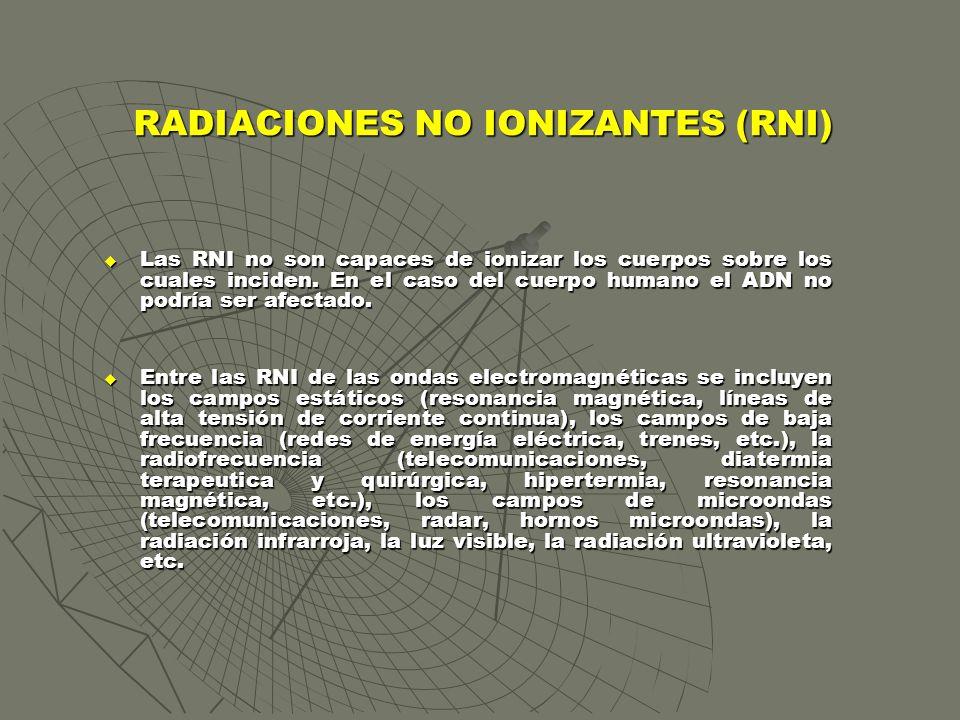 RADIACIONES NO IONIZANTES (RNI)