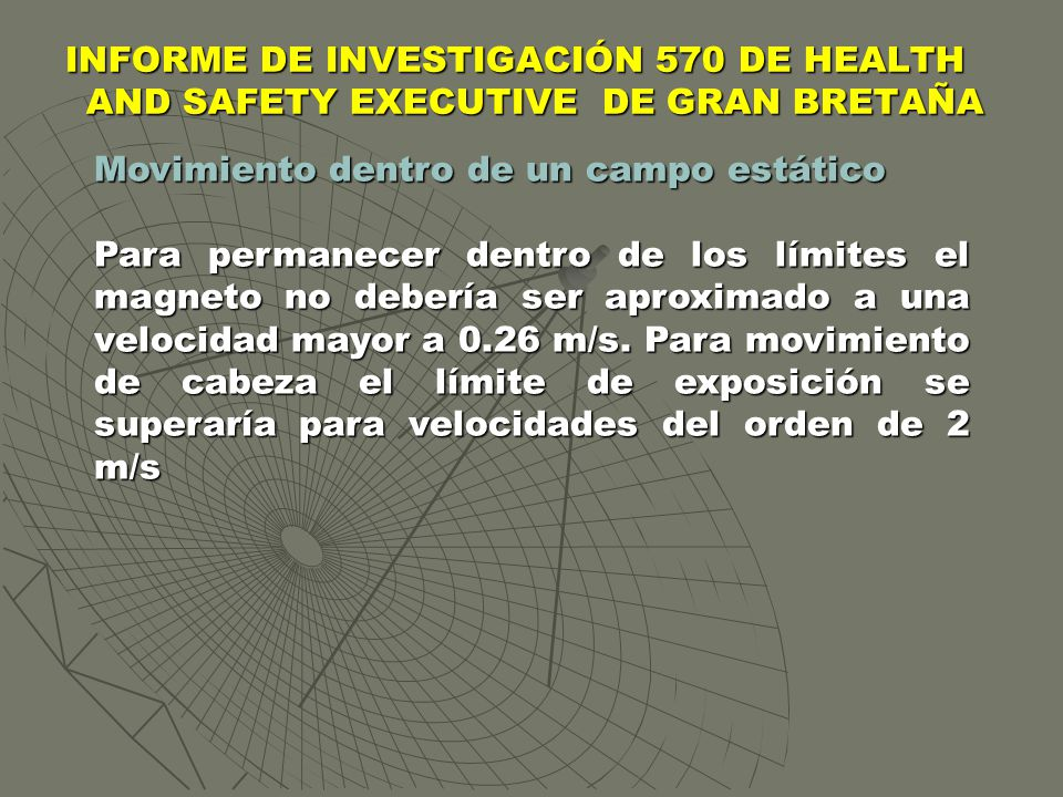 INFORME DE INVESTIGACIÓN 570 DE HEALTH AND SAFETY EXECUTIVE DE GRAN BRETAÑA