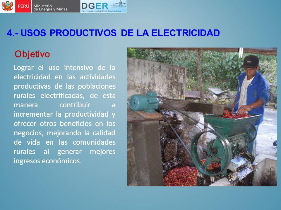 4.- USOS PRODUCTIVOS DE LA ELECTRICIDAD