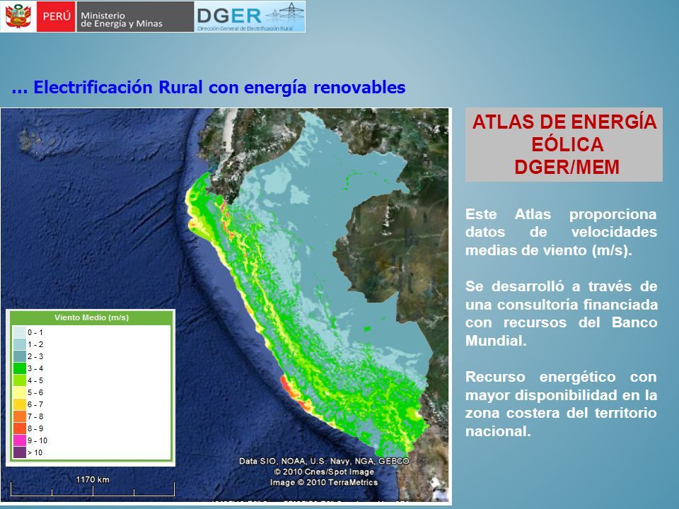 ATLAS DE ENERGÍA EÓLICA DGER/MEM