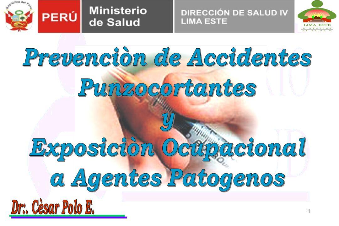 Prevenciòn de Accidentes Exposiciòn Ocupacional