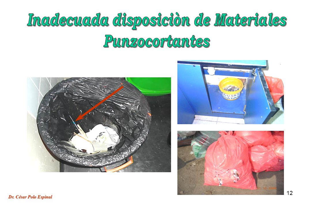 Inadecuada disposiciòn de Materiales