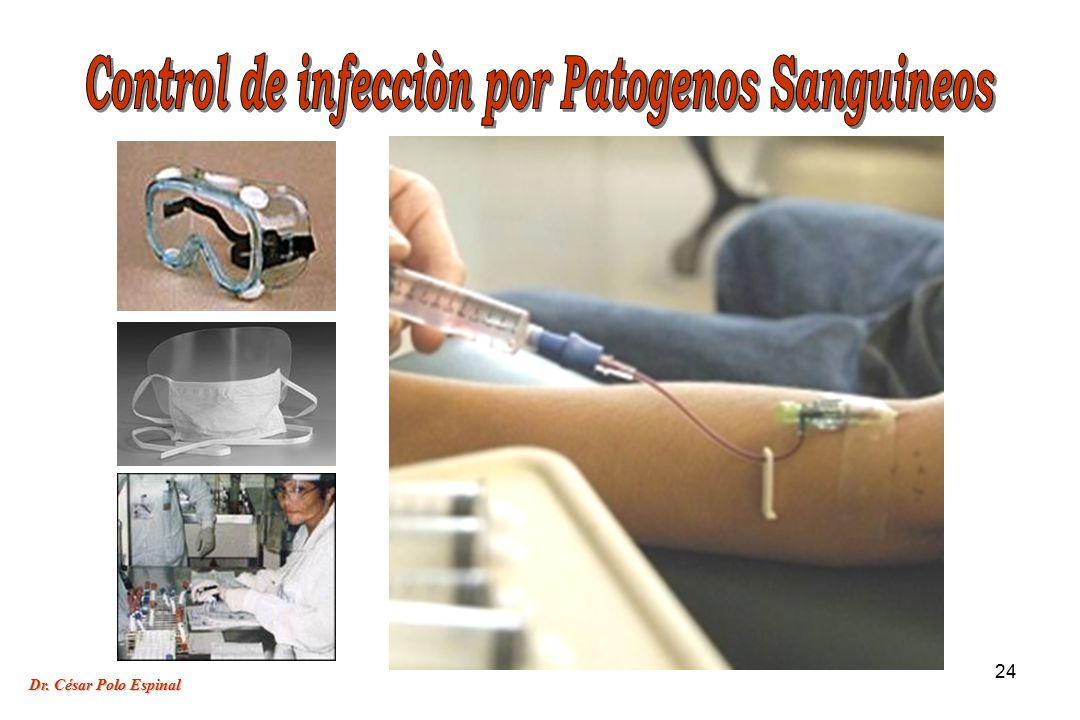 Control de infecciòn por Patogenos Sanguineos