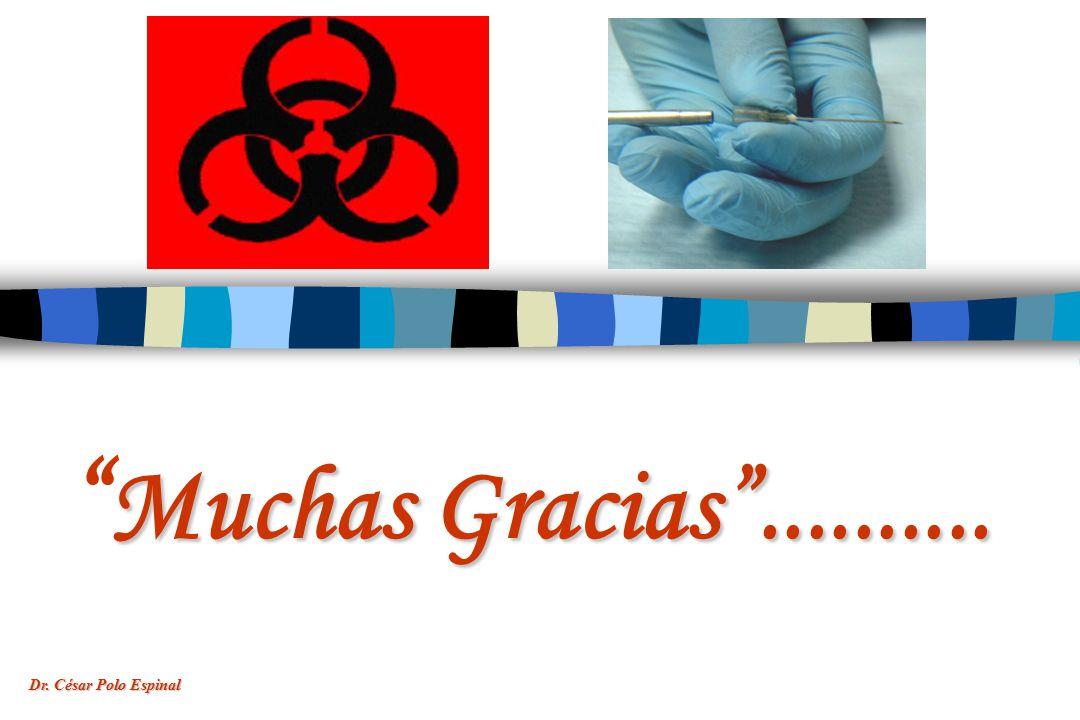 Muchas Gracias .......... Dr. César Polo Espinal