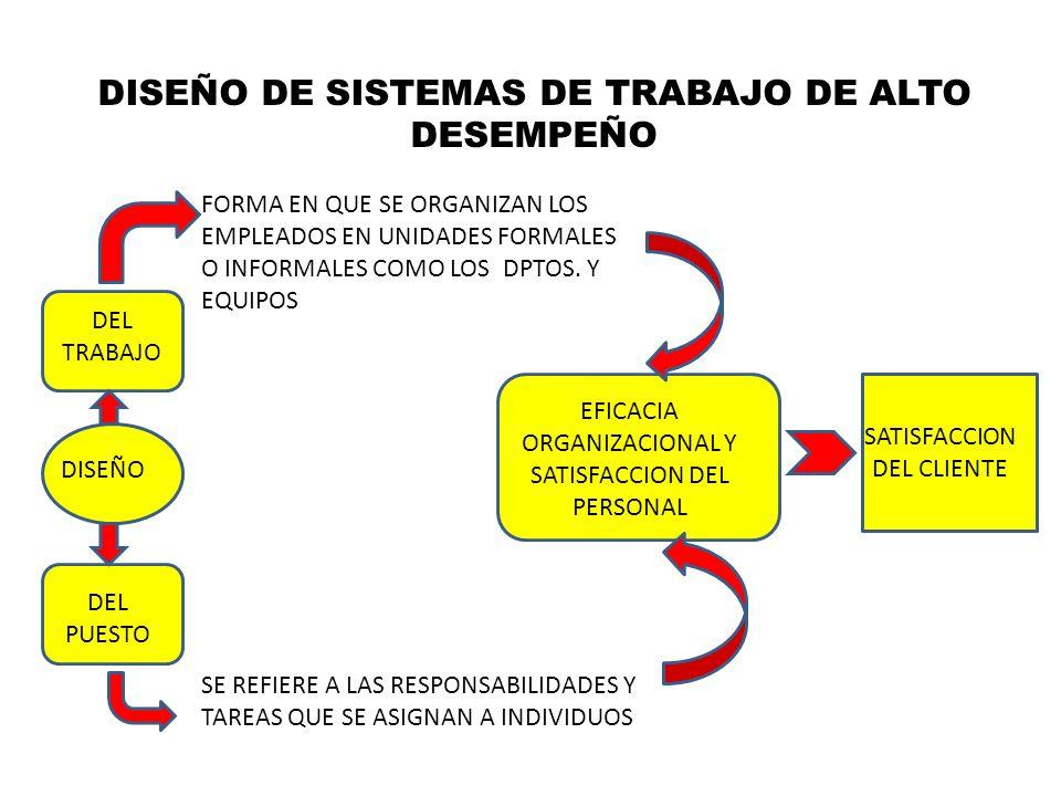 DISEÑO DE SISTEMAS DE TRABAJO DE ALTO DESEMPEÑO