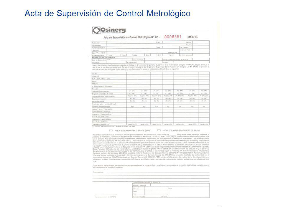 Acta de Supervisión de Control Metrológico