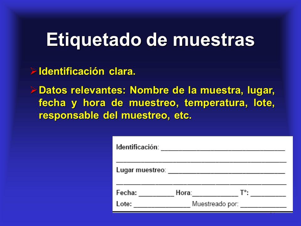 Etiquetado de muestras