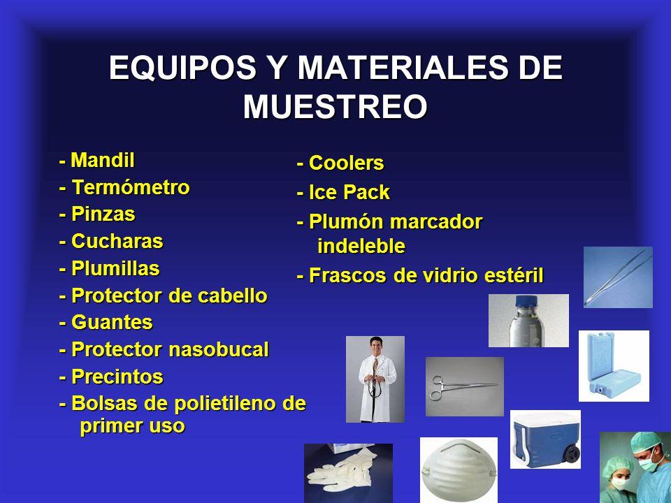 EQUIPOS Y MATERIALES DE MUESTREO