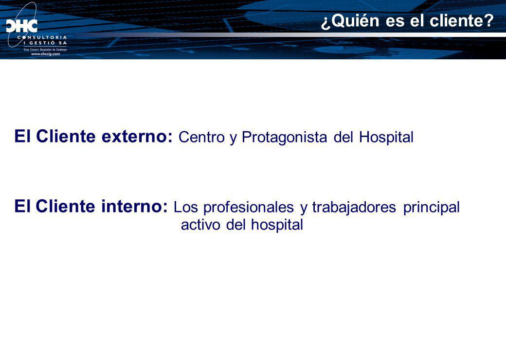 El Cliente externo: Centro y Protagonista del Hospital