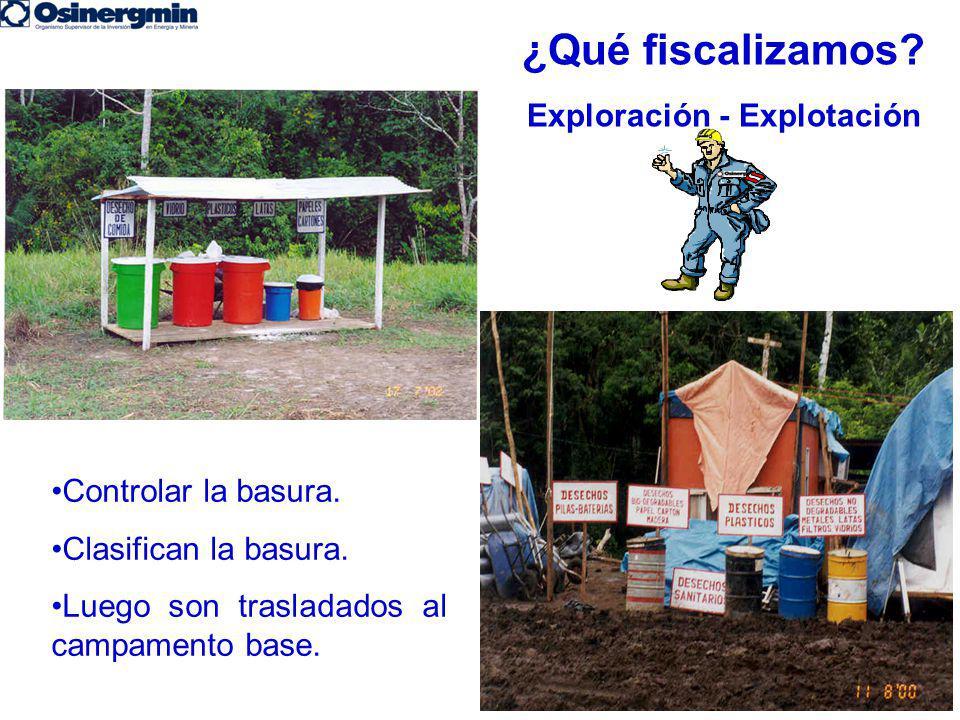 ¿Qué fiscalizamos Exploración - Explotación