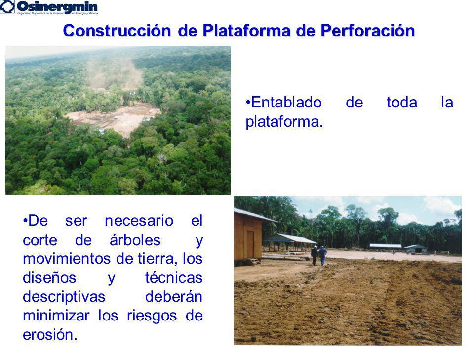 Construcción de Plataforma de Perforación
