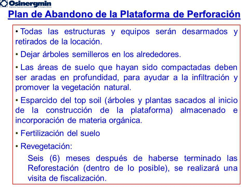 Plan de Abandono de la Plataforma de Perforación