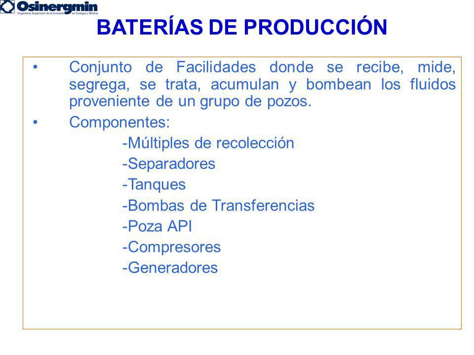 BATERÍAS DE PRODUCCIÓN