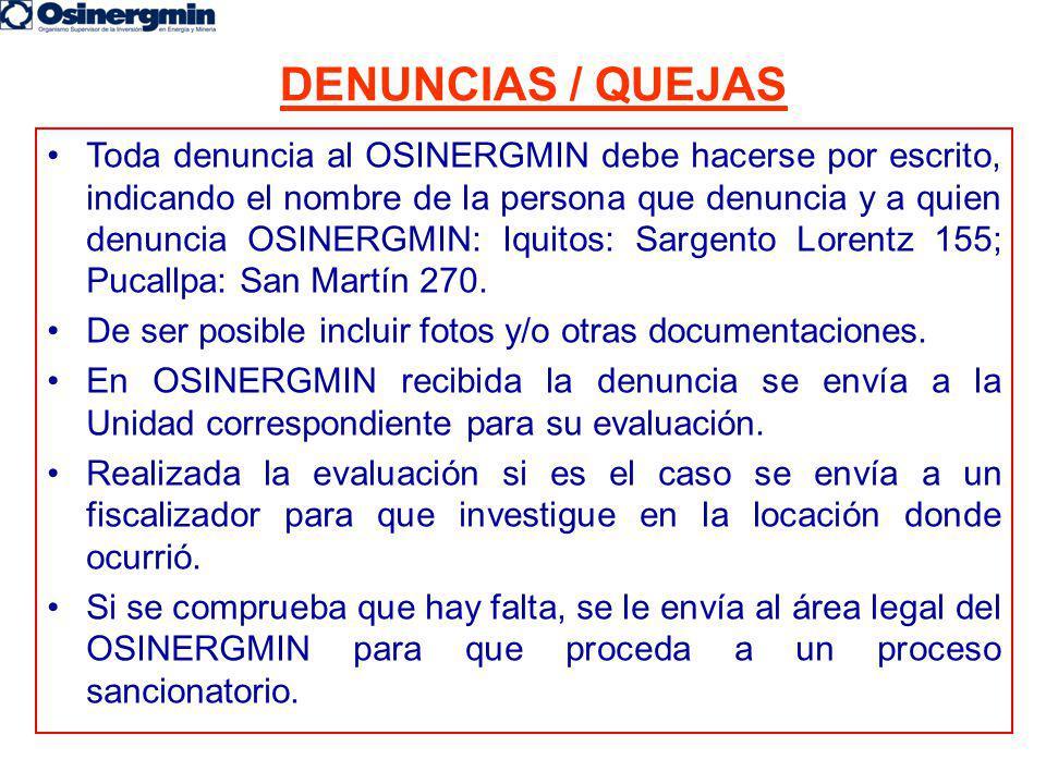 DENUNCIAS / QUEJAS