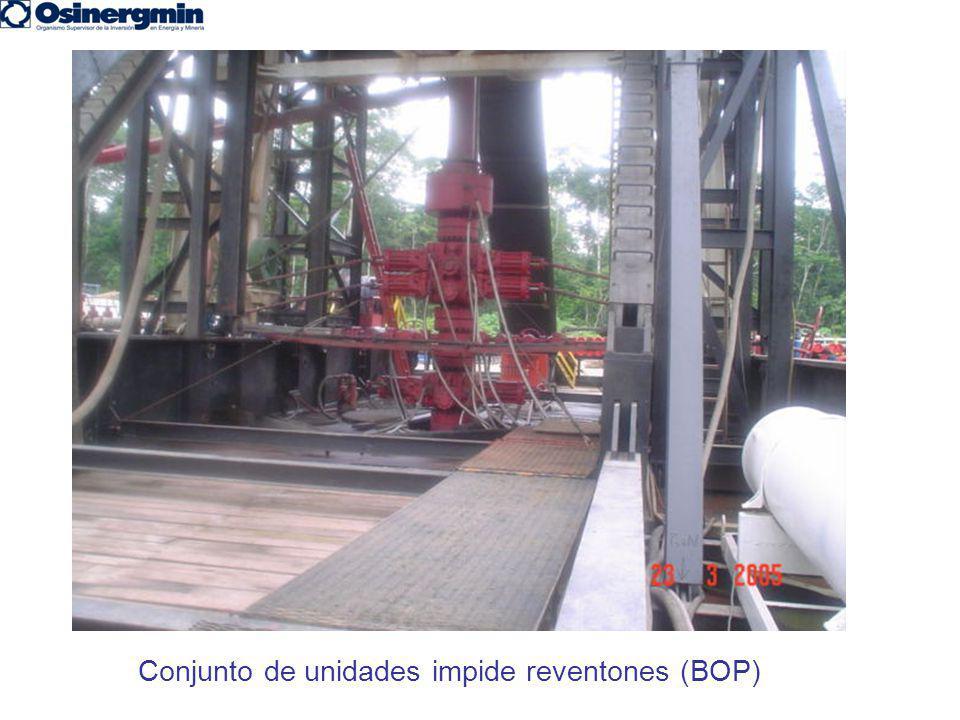 Conjunto de unidades impide reventones (BOP)