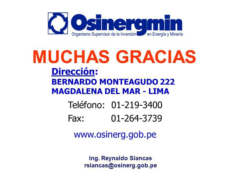MUCHAS GRACIAS Dirección: BERNARDO MONTEAGUDO 222 MAGDALENA DEL MAR - LIMA. Teléfono: 01-219-3400.
