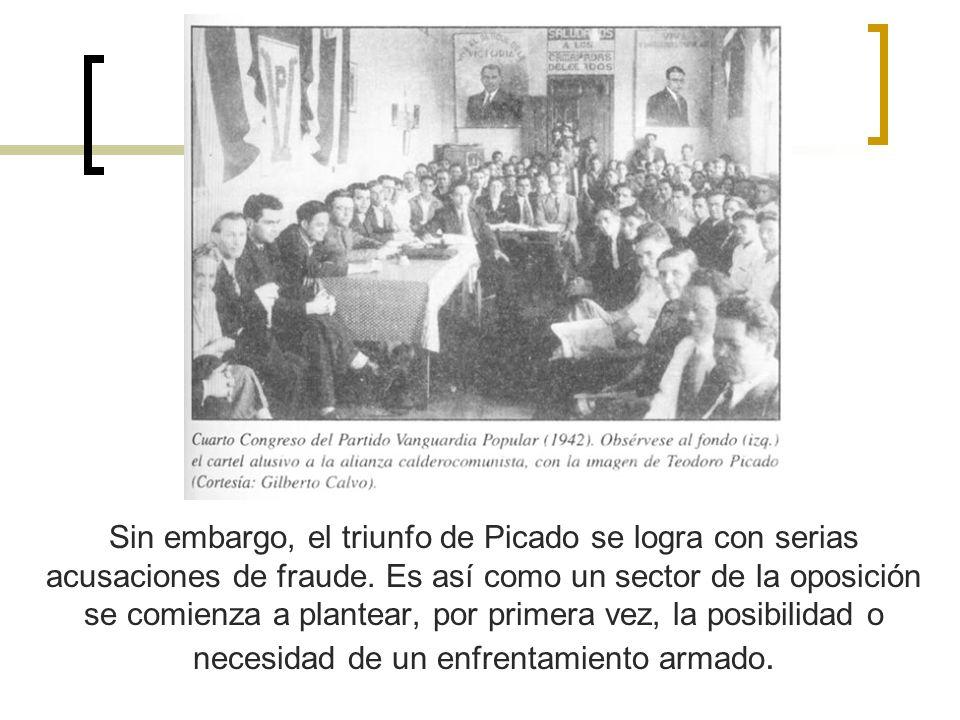 Sin embargo, el triunfo de Picado se logra con serias acusaciones de fraude.