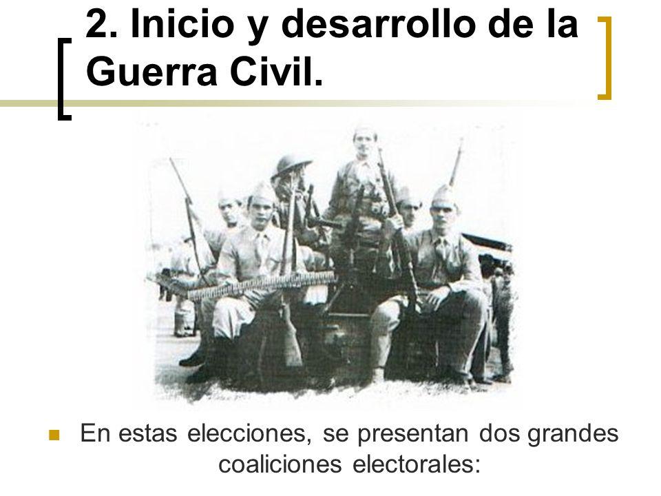 2. Inicio y desarrollo de la Guerra Civil.