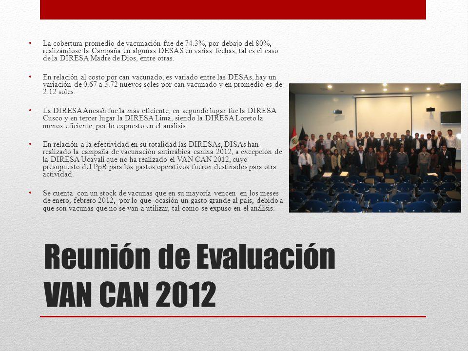 Reunión de Evaluación VAN CAN 2012