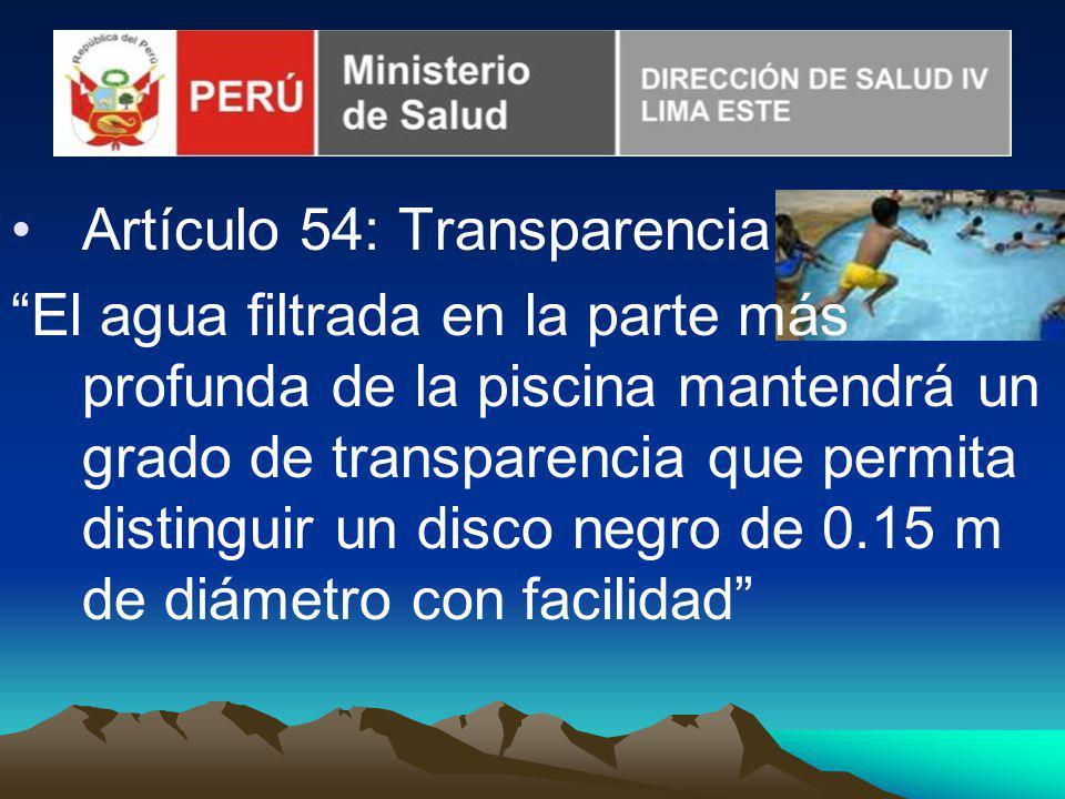 Artículo 54: Transparencia