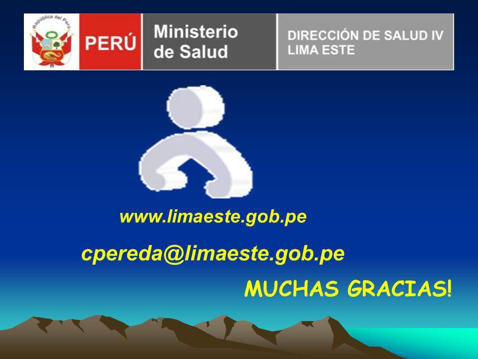 www.limaeste.gob.pe cpereda@limaeste.gob.pe MUCHAS GRACIAS!