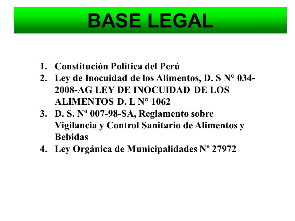 BASE LEGAL Constitución Política del Perú