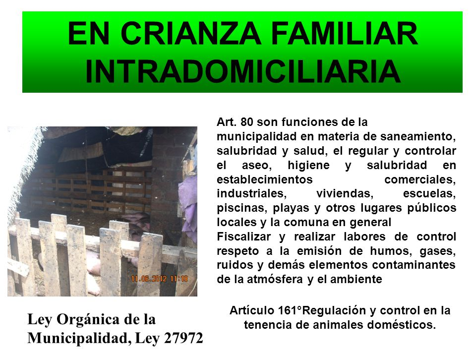 EN CRIANZA FAMILIAR INTRADOMICILIARIA