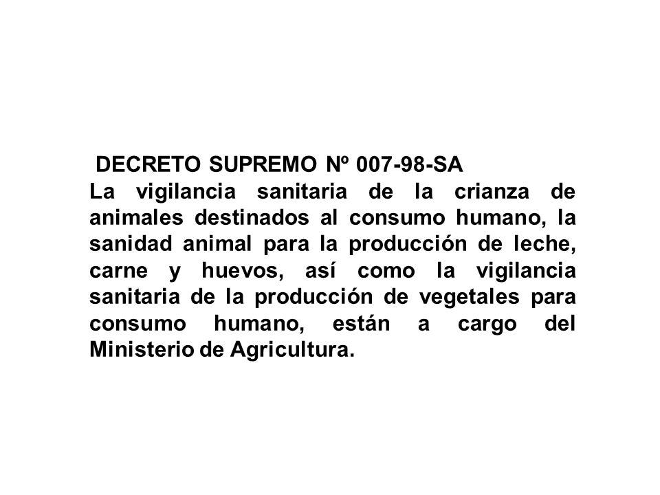 DECRETO SUPREMO Nº 007-98-SA