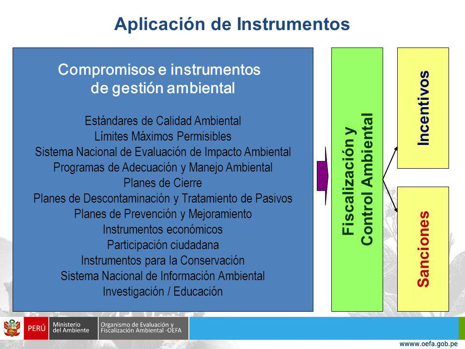 Aplicación de Instrumentos