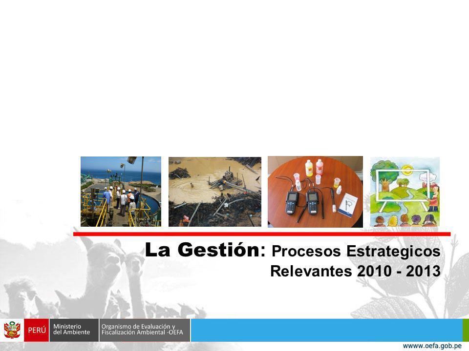 La Gestión: Procesos Estrategicos Relevantes 2010 - 2013