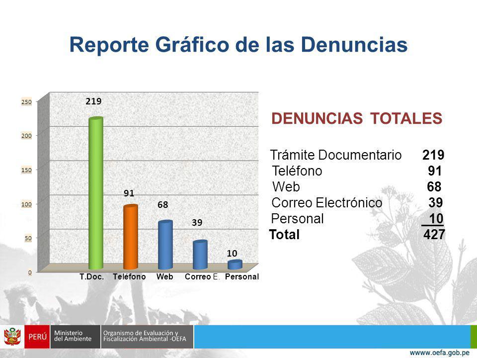 Reporte Gráfico de las Denuncias