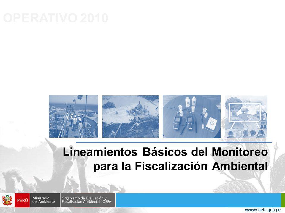 OPERATIVO 2010 Lineamientos Básicos del Monitoreo para la Fiscalización Ambiental