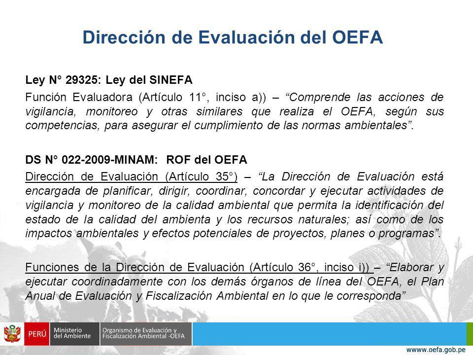 Dirección de Evaluación del OEFA