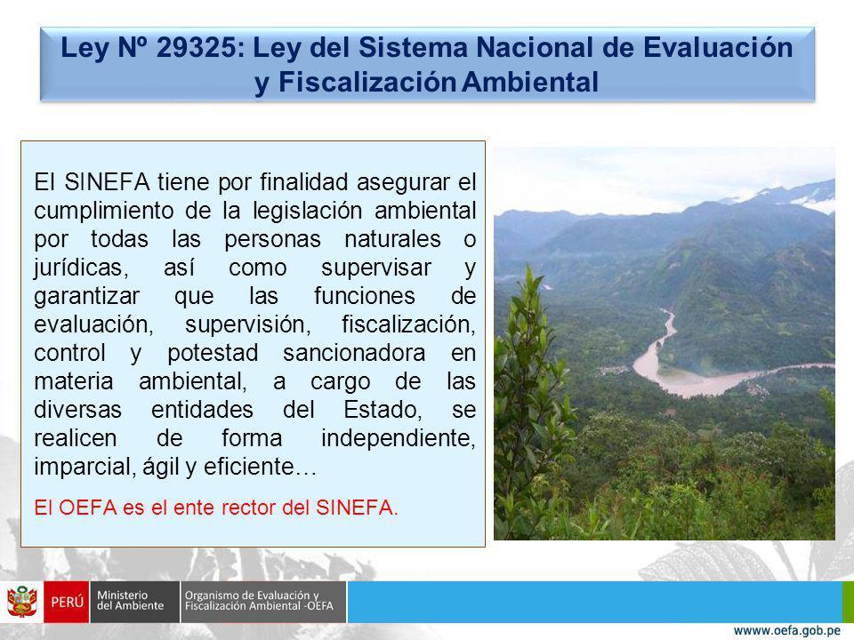 Ley Nº 29325: Ley del Sistema Nacional de Evaluación y Fiscalización Ambiental