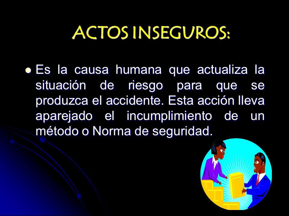ACTOS INSEGUROS: