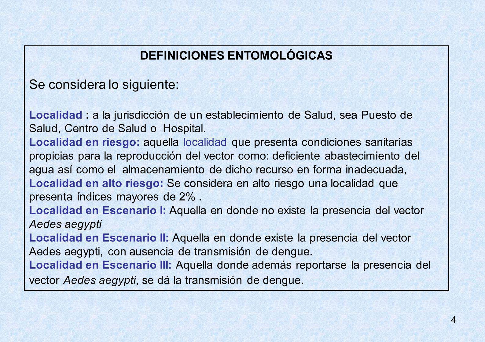DEFINICIONES ENTOMOLÓGICAS