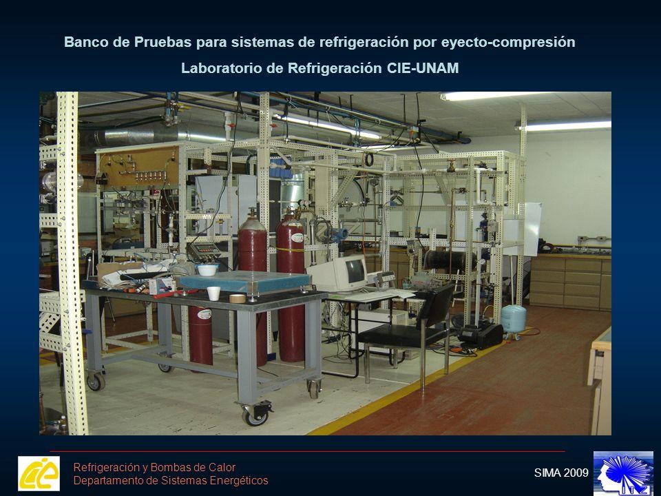 Banco de Pruebas para sistemas de refrigeración por eyecto-compresión