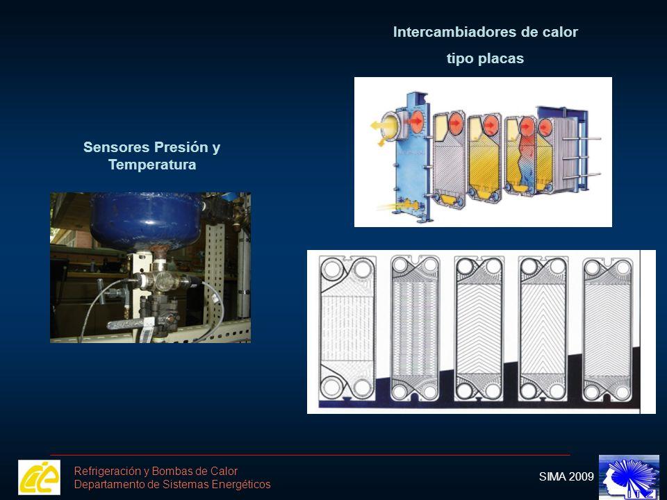 Intercambiadores de calor Sensores Presión y Temperatura