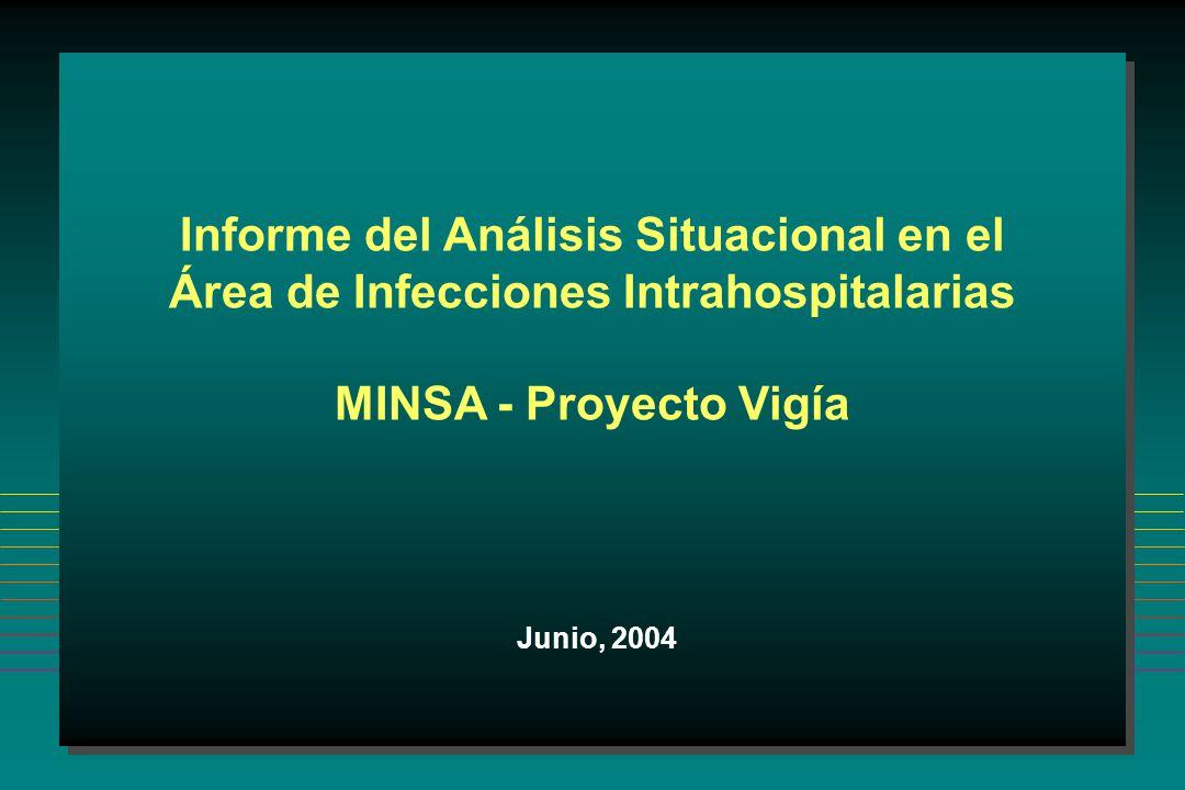 Informe del Análisis Situacional en el Área de Infecciones Intrahospitalarias