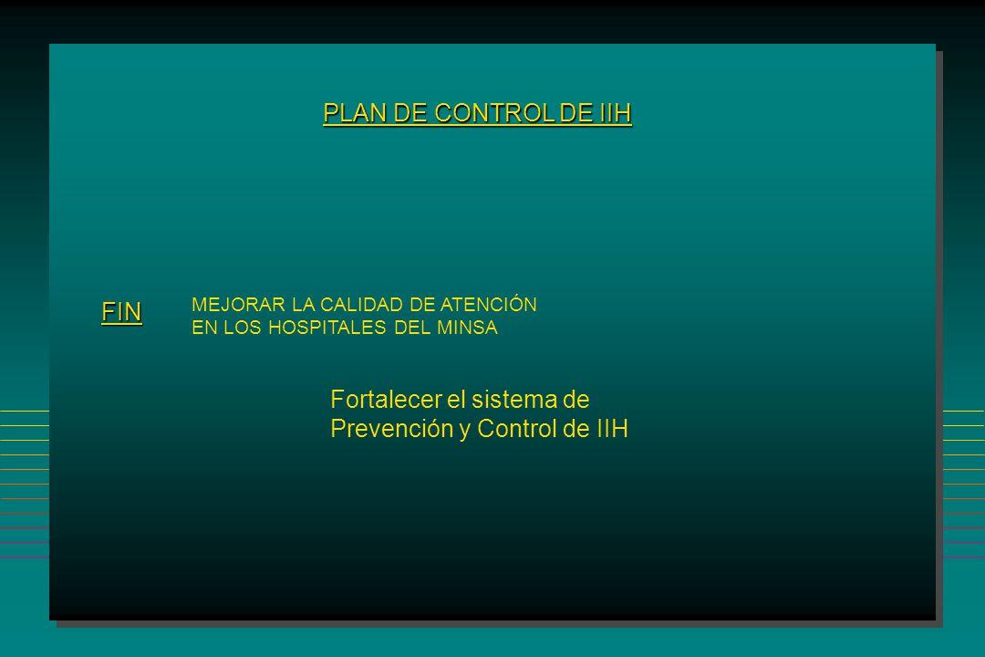 Fortalecer el sistema de Prevención y Control de IIH